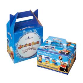 Lunch box carton personnalisée - boîte pliante carton souple grande distribution loisir tourisme évènementiel - Packaging carton sur mesure