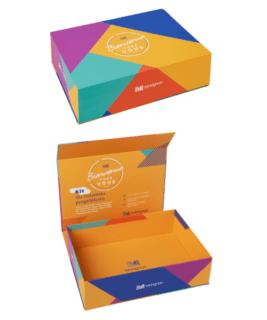 Boite aimantée - coffret cadeau client - welcome pack immobilier - Packaging carton sur mesure