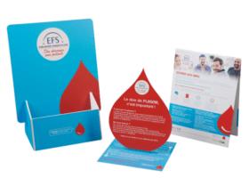 Présentoirs de comptoir santé humaine pharmacie, kit plv de comptoir en carton sur mesure